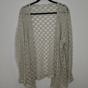 Maurices Cream Open Front Cardigan Size 3X